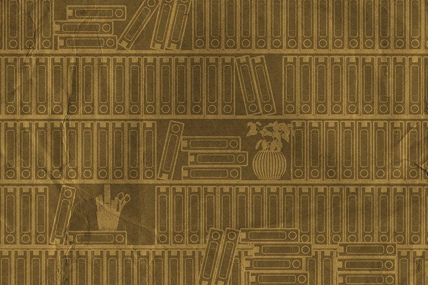 Vlies-Tapete Bücherregal I in S bis XXL