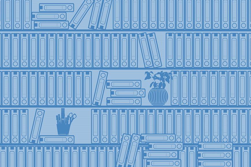 Vlies-Tapete Bücherregal II in S bis XXL