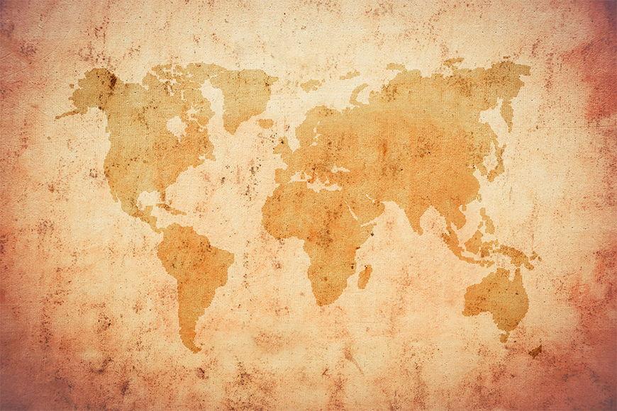 Vlies-Tapete Old Worldmap ab 120x80cm