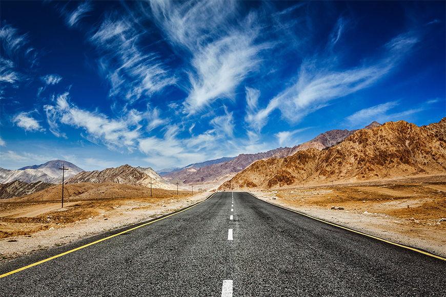 Vliestapete Weg zum Himalaya